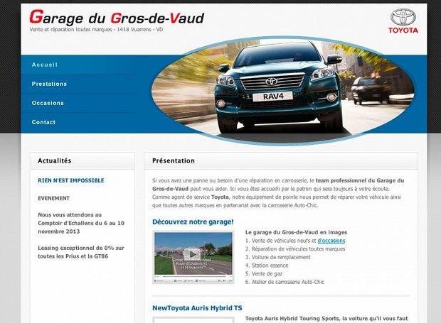 site web pour garage